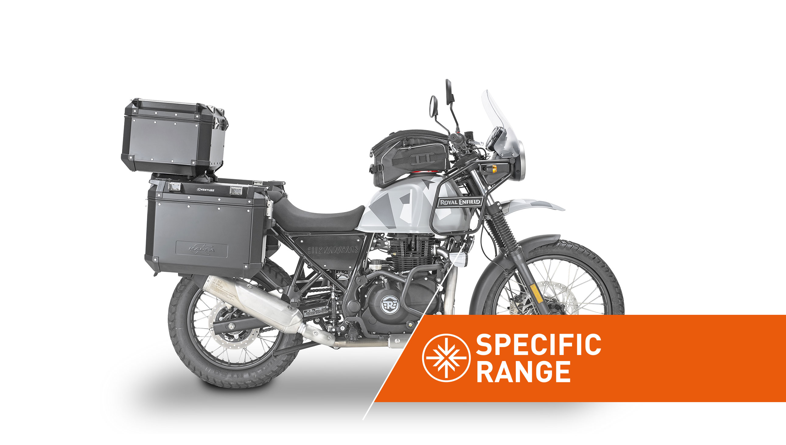 Specific range accessories for ROYALENFIELD HIMALAYAN by KAPPA MOTO.